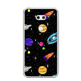 Ốp lưng dẻo cho điện thoại LG V30 - 0063 SPACE04 - Hàng Chính Hãng