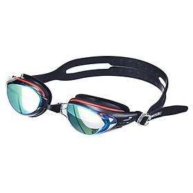 Kawasaki KAWASAKI Goggles Men and women HD Fog & Waterproof Myopia Plating Swimming Goggles Electroplating Goggles GT-800M Black Myopia 200 Degree Goggles