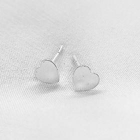 Bông tai nữ Miuu Silver, khuyên tai bạc trái tim nhỏ