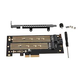 M.2 NVMe SSD NGFF TO PCI-E3.0 X4 Adapter Board M Key / B Key Add On Card