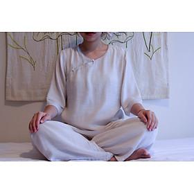 BỘ QUẦN ÁO ĐI LỄ CHÙA TẬP THIỀN YOGA NỮ 2 LỚP
