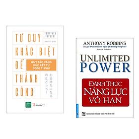Combo 2 cuốn : Đánh Thức Năng Lực Vô Hạn + Tư Duy Khác Biệt Để Thành Công