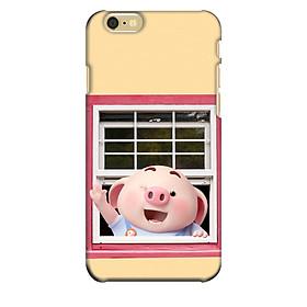 Ốp lưng nhựa cứng nhám dành cho iPhone 6 in hình Heo Con Chào Ngày Mới