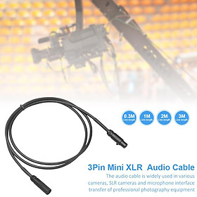 0.3/1/2/3 M 3 Pin MINI XLR Male To Female Audio Cable Microphone Interface Connection Photography Equipment For Cameras