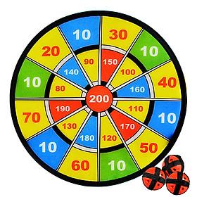 ENPEX sticky ball dart board parent-child baby sports toys boys and girls flannel sucker dart target 2 set-2