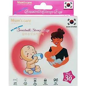 Túi Trữ Sữa Mum's Care Có Cảm Ứng Nhiệt 210ml (30 Túi/Hộp)