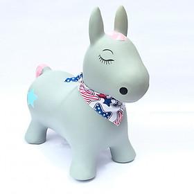 Thú nhún cao cấp Toys House chính hãng kèm bơm cho bé (mẫu ngựa quàng khăn)