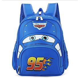 Balo bé trai hình ô tô 95 mầu xanh cho bé mẫu giáo 1-5y