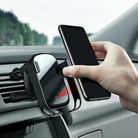 Bộ giá đỡ điện thoại gắn kính hoặc táp lô tích hợp sạc nhanh không dây dùng trên xe hơi Baseus Rock-Solid Electric Holde LV589-CB [Hàng Chính Hãng]