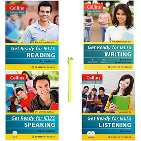 Combo Collins - Get Ready For IELTS : Reading, Writing, Speaking, Listening (Kèm 2 CD) (Tặng Kèm Viết)