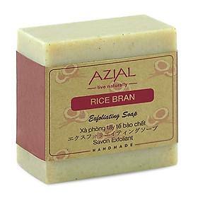Xà phòng cám gạo tẩy tế bào chết AZIAL Rice Bran Exfoliating Soap 130g - Phù hợp với mọi loại da kể cả da bị viêm nang lông và mụn lưng