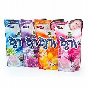 Bộ 4 túi nước xả vải Sandokkaebi Hàn Quốc cho da nhạy cảm 1.3L (Hương ngẫu nhiên)