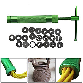 High Quality Green Clay Extruders Sculpture Machine Clay Sugar Paste Extruder Fondant Cake Sculpture Polymer Tool
