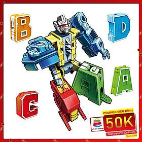 Đồ chơi lắp ráp trẻ em - Bảng chữ cái biến hình A B C D - Bằng nhựa ABS an toàn