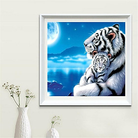 Tiger DIY 5D Diamond Sticker Embroidery Cross Stitch Painting by Number Kit