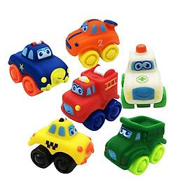 Cao Su Nhựa Mini Ô Tô Đồ Chơi Mô Hình Cho Bé Kid Cho Bé Chơi Bộ 6 Cái