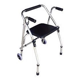 Khung tập đi cho người già có bánh xe, ghế ngồi