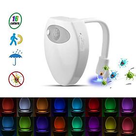 16Colors LED Toilet Night Light Motion Sensor USB Charging with UV Violet Sterilization Function