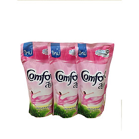 Combo 3 túi Nước Xả Vải Comfort Thái Lan 580ml ( màu hồng)