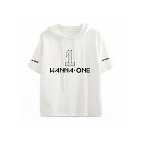 Áo Thun Tay Lỡ Có Mũ In Logo Wanna One Kpop