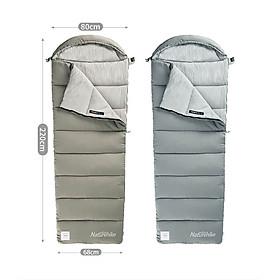 Túi ngủ Naturehike NH20MSD02 Model M400 du lịch, văn phòng, hở chân, ghép đôi, mũ trùm giặt máy