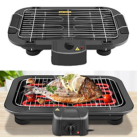 Electric Table Top Grill BBQ Barbecue Garden Camping Cooking Indoor 1300W