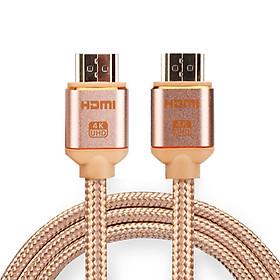 Cáp HDMI 2.0 4K@60hz bọc lưới chống nhiễu 2 đầu mạ gold