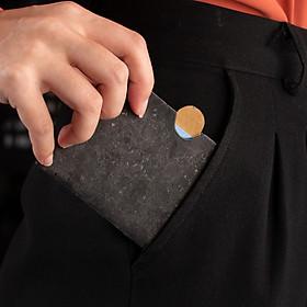 Ví Đưng Thẻ Mini Size Mardlian MarCard Holder Nhỏ Gọn, Từ Vỏ Cây Cork, ATM, Đựng Tiền, Nhiều Ngăn