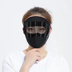 Khẩu trang ninja kính đen chống nắng che kín mặt đeo tai vải thun thoáng mát thích hợp cả nam và nữ
