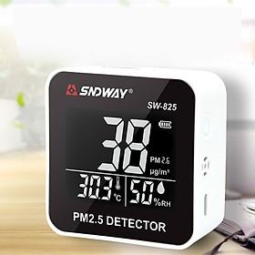 Máy Đo Chất Lượng Không Khí PM2.5, Nhiệt Độ, Độ Ẩm SNDWAY SW-825 - Hàng Chính Hãng