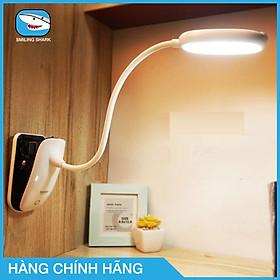 Đèn bàn học chống cận, kiêm đèn đọc sách, làm việc Smiling Shark không dây, sạc USB, thân đèn linh hoạt 360 độ, có thể kẹp vào bàn hay giá sách, bảo vệ mắt khi học, dùng máy tính kéo dài - hàng chính hãng