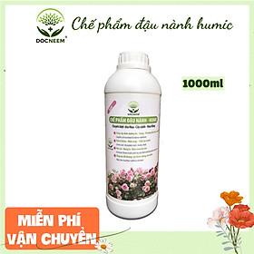 Phân bón hữu cơ đậu tương, đậu nành trứng chuối humic DOCNEEM kích mầm, chồi, hoa chuẩn form trên hoa hồng, cây cảnh, chai 1 lít