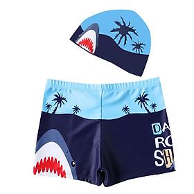 Combo quần + nón bơi cho bé hình cá mập thoải mái ngộ nghĩnh Cleacco - Hàng chính hãng