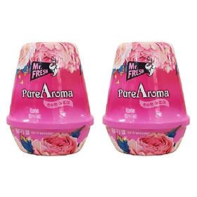 Bộ 2 Sáp thơm phòng Pure Aroma 180g Hàn Quốc khử mùi ẩm mốc (Mẫu mới)