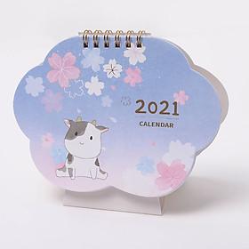 Lịch Để Bàn 2021 Cute Amimal ( Lịch Đa Năng Lên Kế Hoạch To Do List)