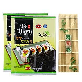 Combo 2 Rong Biển Khô Cuộn Sushi Namkwang Food (20g / Gói) tặng mành tre