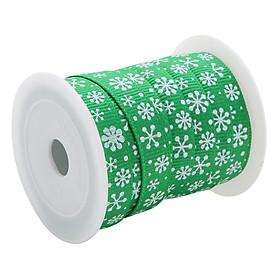Cuộn Ruy Băng Gân Trang Trí Noel (Loại 1cm) - Hình Hoa Tuyết