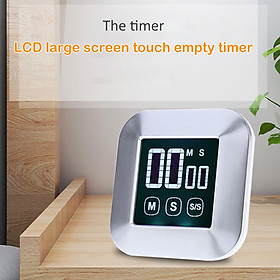 Kitchen Timer 0-99 Minutes Touch Screen LCD Backlight Digital Timer Alarm Clock Cooking Count Down Tool