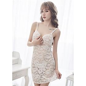 Váy ngủ ren hoa 2 dây cổ vuông