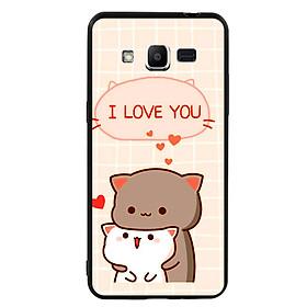 Ốp lưng viền TPU cho điện thoại Samsung Galaxy J2 Prime - I Love U