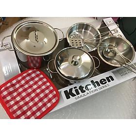 Bộ đồ chơi nấu ăn 11 chi tiết bằng inox cho bé