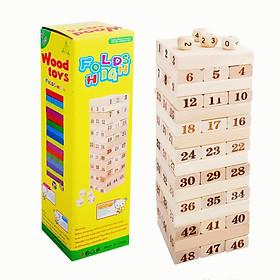 Bộ đồ chơi rút gỗ số 48 thanh