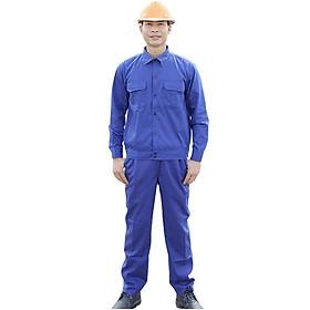 Bộ quần áo bảo hộ màu xanh công nhân