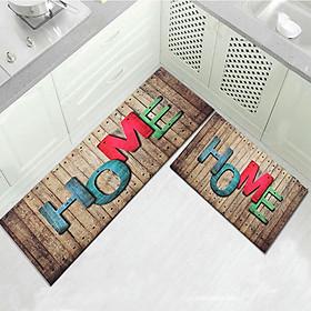 1/2PCS Kitchen Floor Carpet Area Rug Non-Slip Bathroom Absorbent Doormat Pad Mat