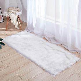 Thảm lông trắng trang trí nhà cửa làm đạo cụ chụp hình sản phẩm