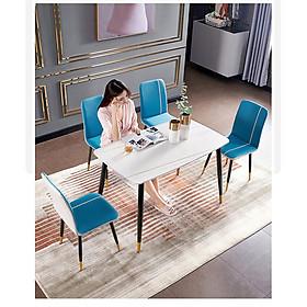 Combo bộ bàn ghế cho phòng ăn gia đình - Hàng cao cấp (Giao màu ngẫu nhiên)
