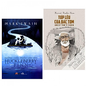 Combo Những Cuộc Phiêu Lưu Của Huckleberry Finn + Túp Lều Bác Tôm (tặng kèm bookmark AHA)