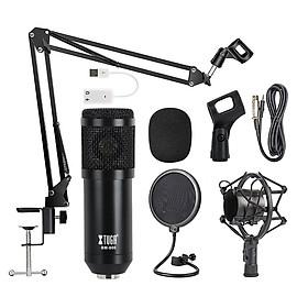 XTUGA BM800 chuyên nghiệp bị đình chỉ Micro Suite Studio sống phát sóng ghi âm micrô bộ máy tính dây đeo trên microphone