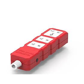 Ổ cắm Công suất lớn Điện Quang ĐQ ESKHP 3RW (3 lỗ, màu đỏ trắng, không dây)