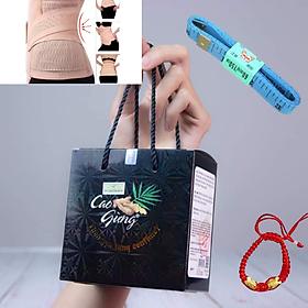 Cao Gừng Tan Mỡ Thiên Nhiên Việt mẫu mới hộp 200g kèm đai nịt bụng + tặng kèm vòng Phong Thủy+ Thước dây NANA Cosmetics